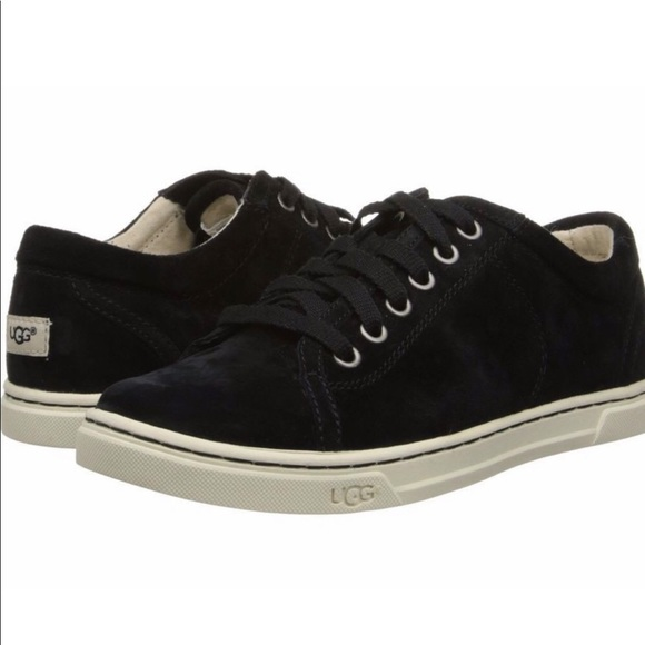 36e80b638aa UGG | Black Tomi Suede Water Resistant Sneaker 8.5